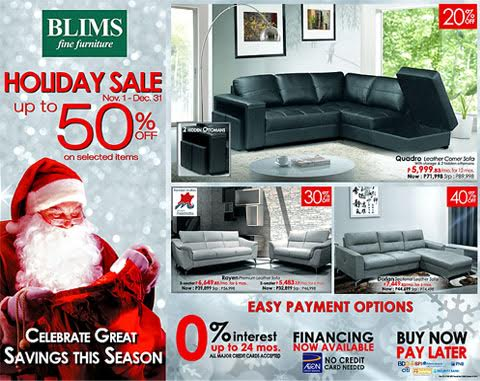 BLIMS Holiday Sale November - December 2015