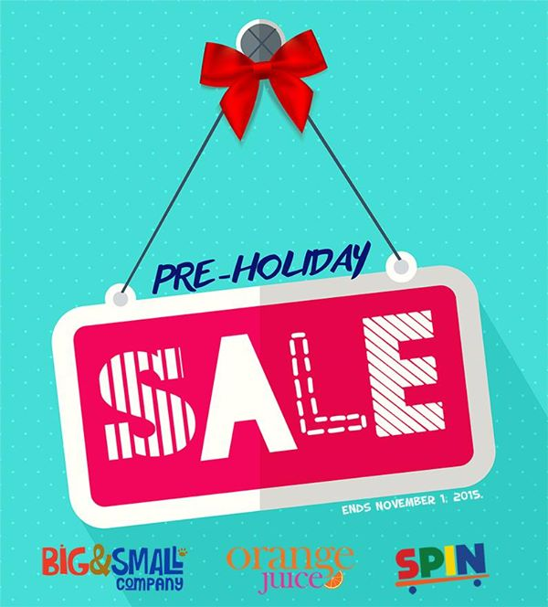 Big & Small Co, Orange Juice, Spin Pre-Holiday Sale October - November 2015