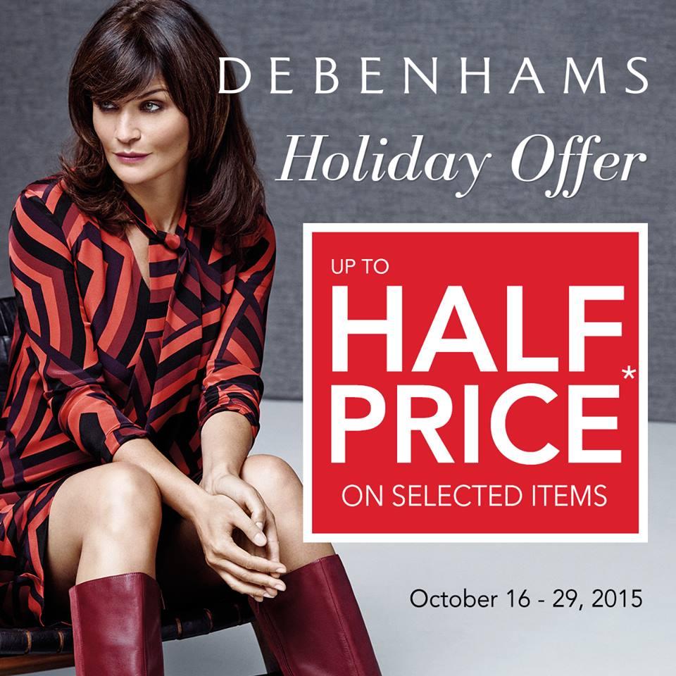 Debenhams Mid-Season Sale October - November 2015