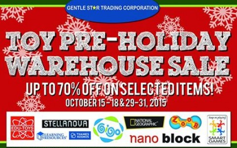 GST Toy Pre-Holiday Warehouse Sale @ FMF Business Center October 2015