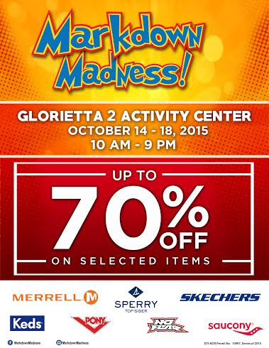 Markdown Madness @ Glorietta Activity Center October 2015