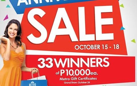 Metro Department Store and Super Metro Anniversary Sale October 2015