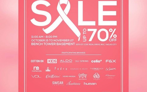 Pink Ribbon Sale @ The Bench Tower October - November 2015