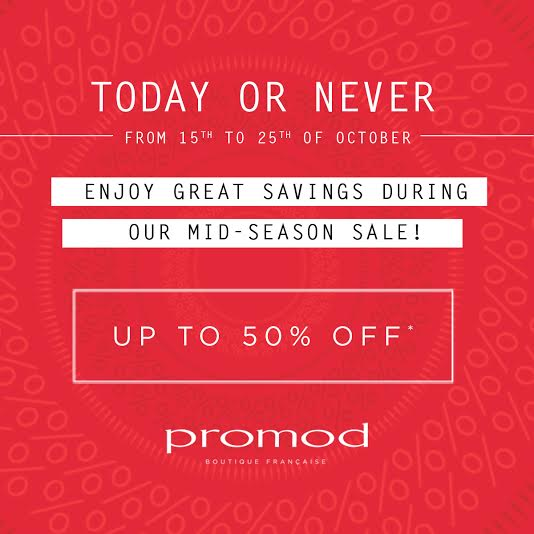 Promod Mid-Season Sale October - November 2015