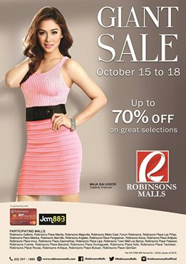 Robinsons Malls Giant Sale October 2015