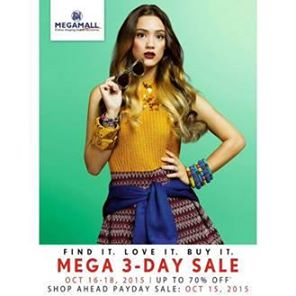 SM Megamall Mega 3-Day Sale October 2015