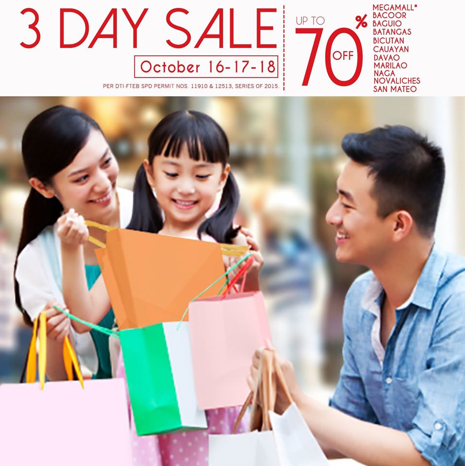 SM Supermalls 3-Day Sale October 2015