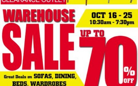SOGO Home & Office Center Warehouse Sale October 2015