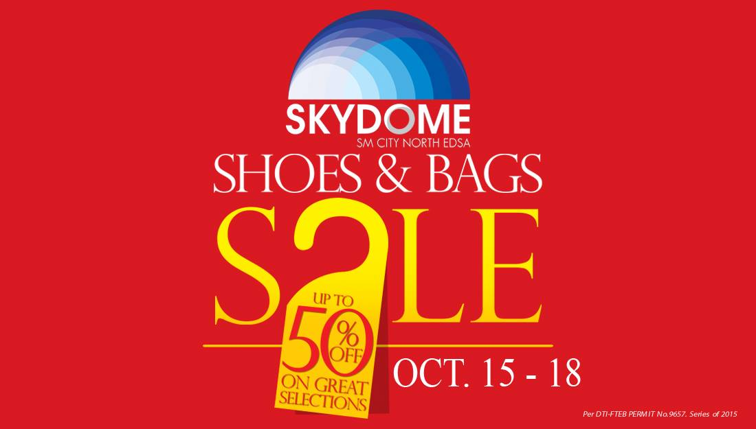 Shoes & Bags Sale @ Skydome SM City North Edsa October 2015