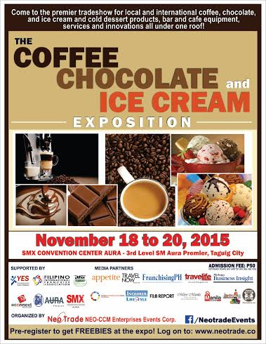 The Coffee, Chocolate and Ice Cream Exposition @ SMX Convention Center Aura November 2015