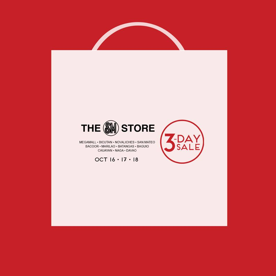 The SM Store 3-Day Sale October 2015
