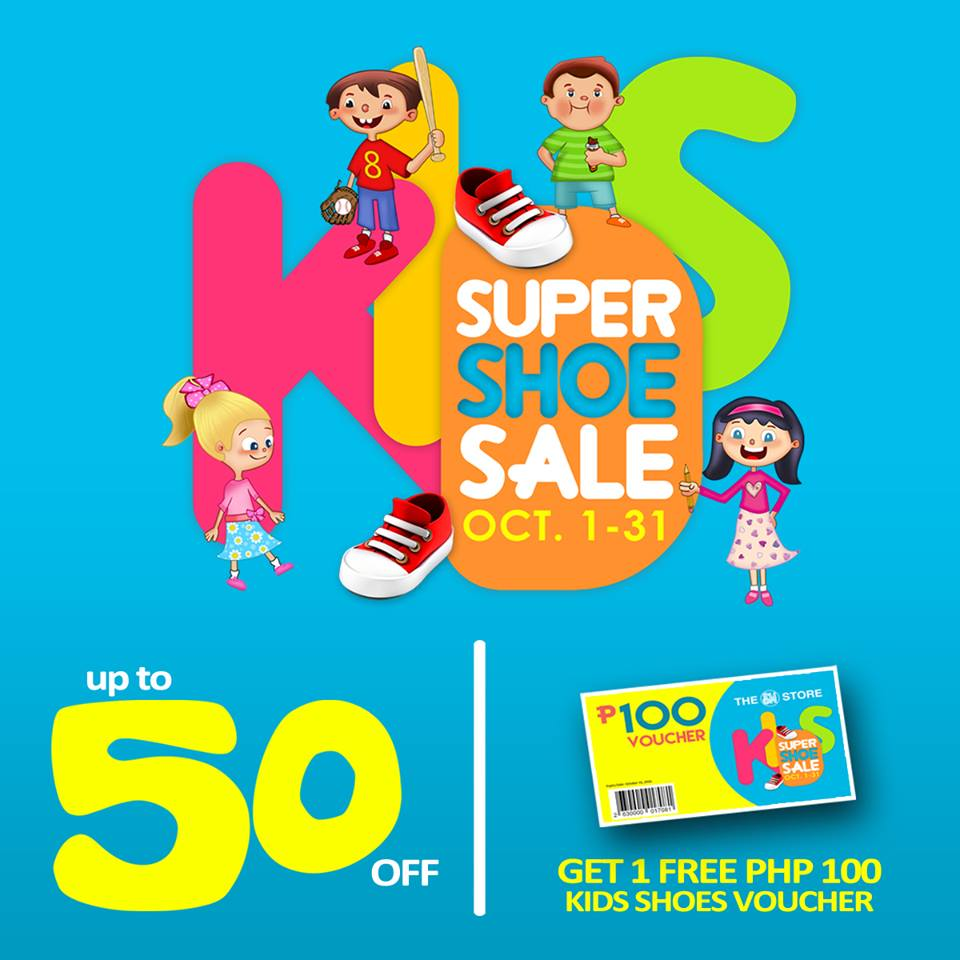 The SM Store Kids Super Shoe Sale October 2015