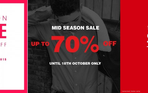 Topshop, Topman, Dorothy Perkins Mid-Season Sale October 2015