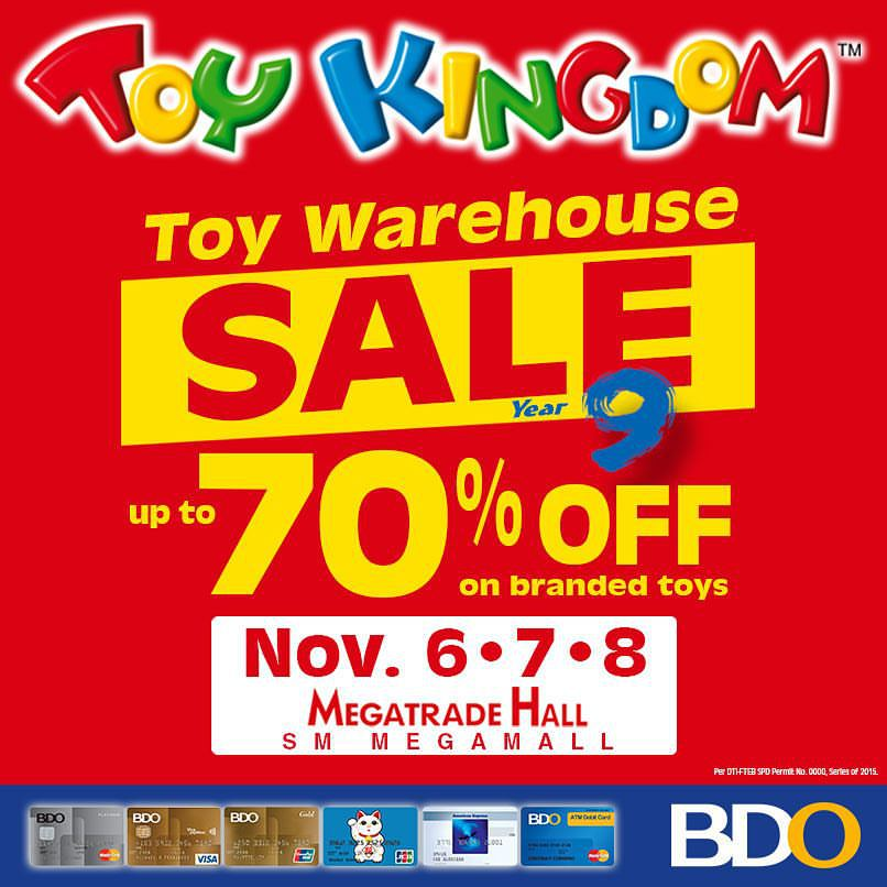 Toy Kingdom Toy Warehouse Sale @ SM Megatrade Hall November 2015