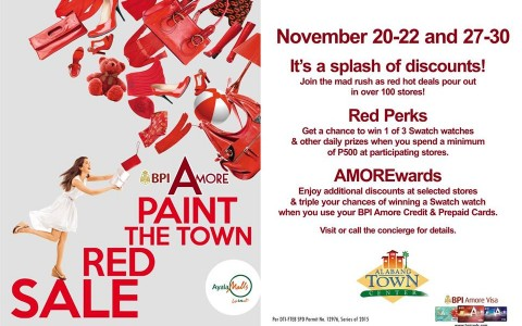 Alabang Town Center Paint The Town Red Sale November 2015