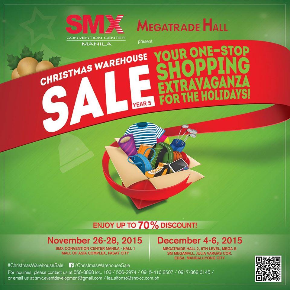 Christmas Warehouse Sale  November 26 – 28   December 4 –. 52a341a19