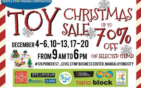 GST Toy Christmas Sale @ FMF Business Center December 2015