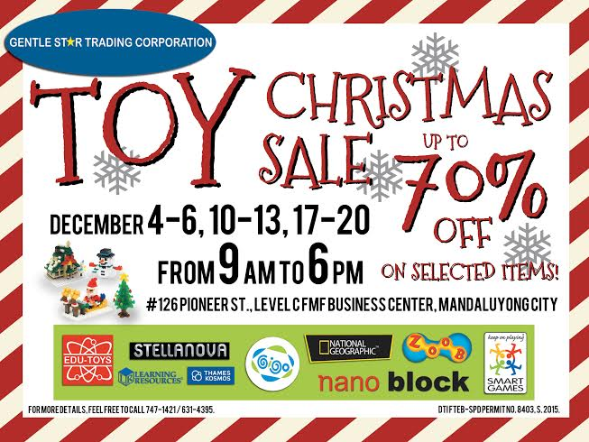 GST Toy Christmas Sale @ FMF Business Center December 2015