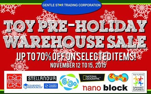 GST Toy Pre-Holiday Warehouse Sale @ FMF Business Center November 2015