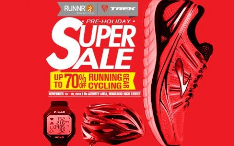 Runnr x Trek Pre-Holiday Super Sale @ Bonifacio High Street November 2015