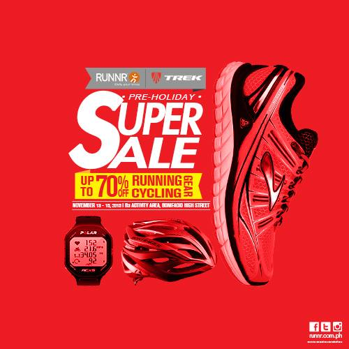 Runnr x Trek Pre-Holiday Super Sale @ Bonifacio High Street November 2015
