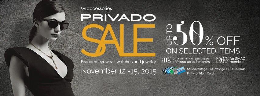 SM Accessories Privado Sale November 2015