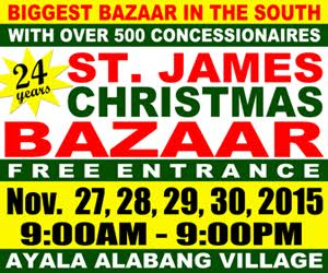 St. James Christmas Bazaar @ Ayala Alabang Village November 2015