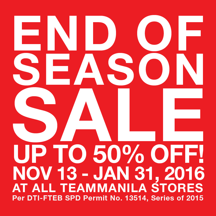 TeamManila End of Season Sale November 2015 - January 2016