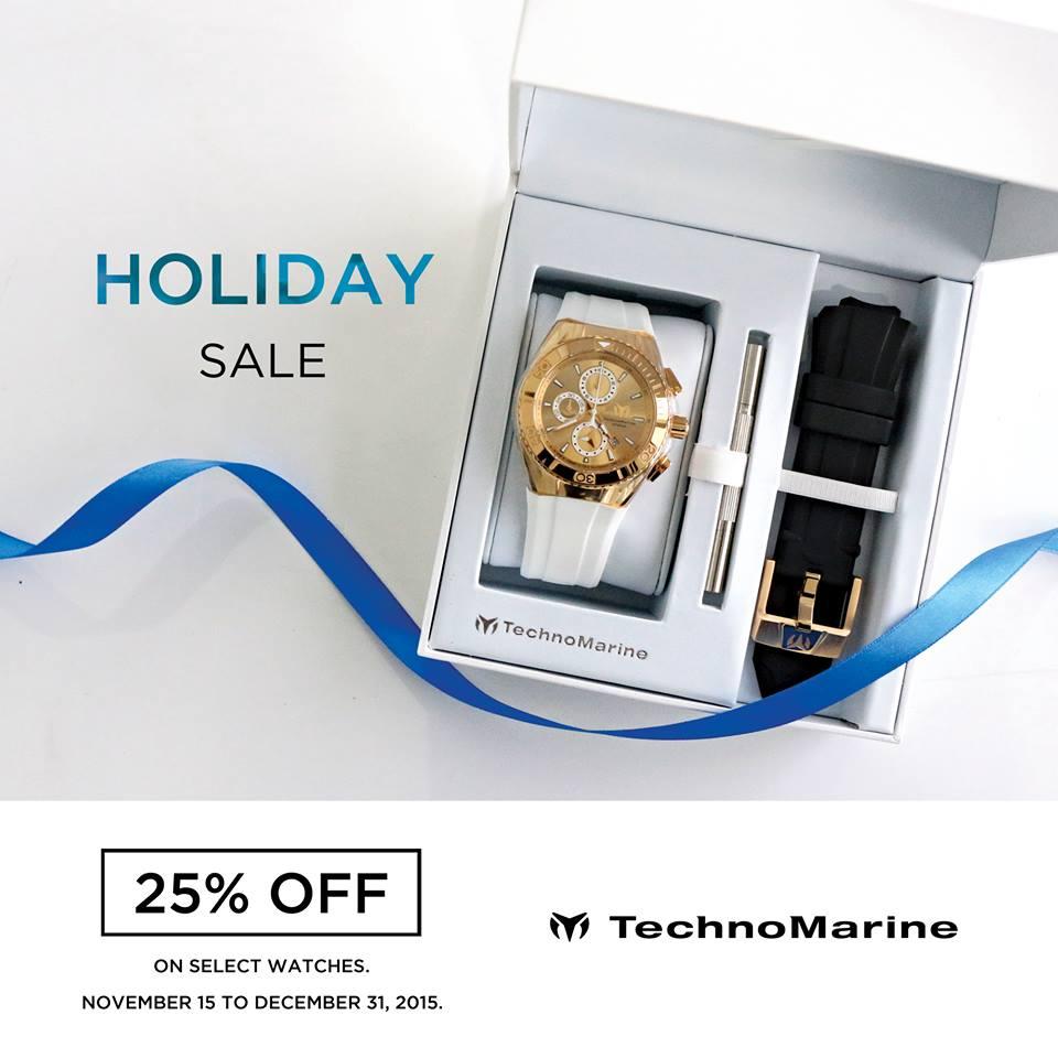 Technomarine Holiday Sale November - December 2015