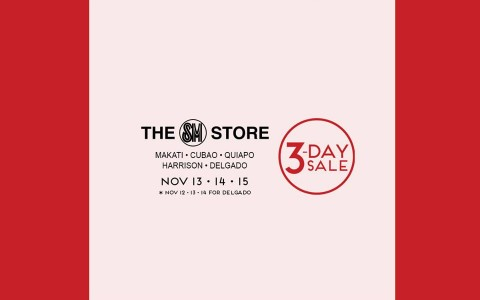 The SM Store 3-Day Sale November 2015
