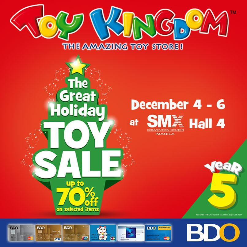 Toy Kingdom The Great Holiday Toy Sale @ SMX Convention Center December 2015