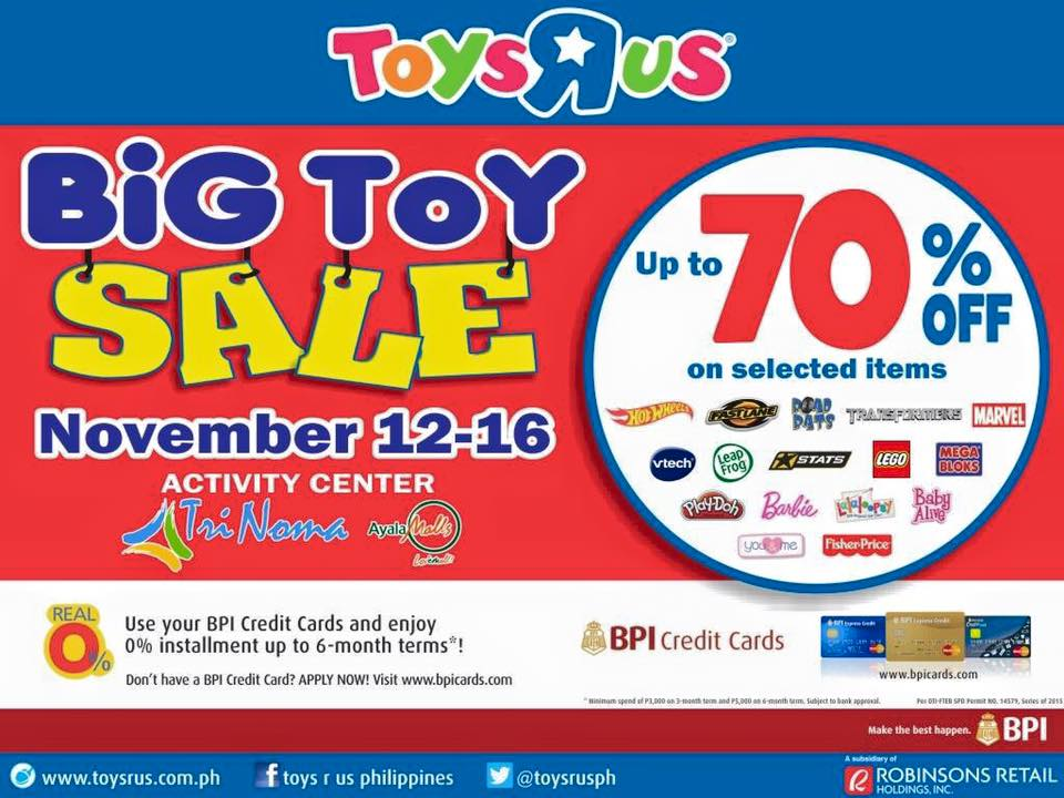 Toys R Us Big Toy Sale @ Trinoma Activity Center November 2015