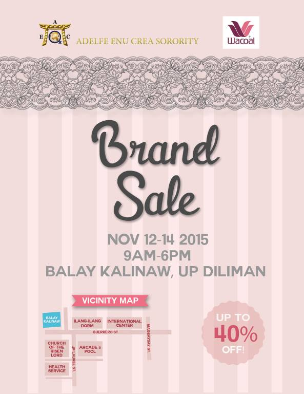 Wacoal Brand Sale @ UP Balay Kalinaw November 2015