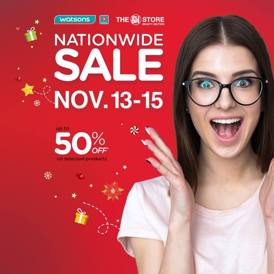 Watsons Nationwide Sale November 2015