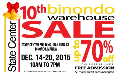 10th Binondo Warehouse Sale Official Cover