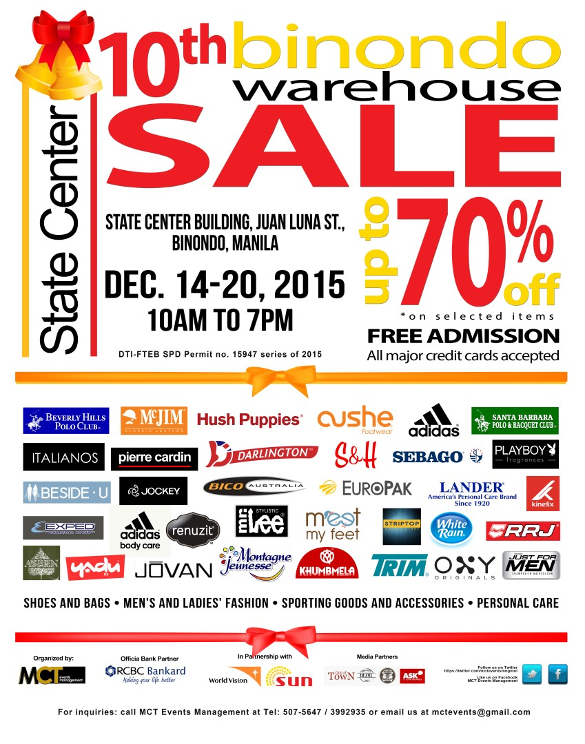 10th Binondo Warehouse Sale Official Poster (Large)