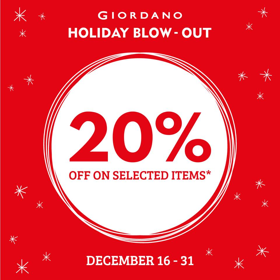 Giordano holiday sale december 16 31 2015 manila on sale for Christmas decs sale