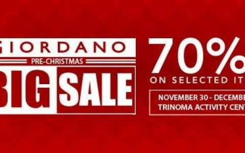 Giordano Pre-Christmas Sale @ Trinoma Activity Center December 2015