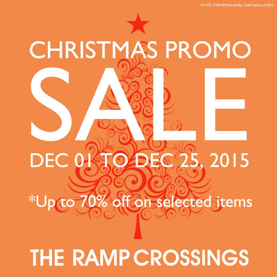 The Ramp Crossings Christmas Promo Sale December 2015