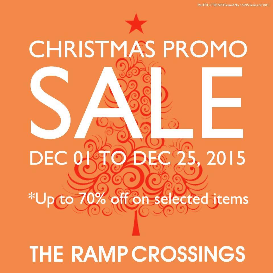 The Ramp Crossings Christmas Promo Sale December 2015
