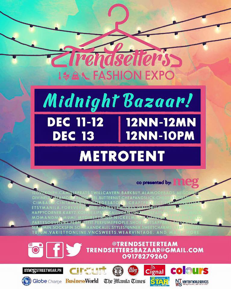 Trendsetter's Midnight Bazaar @ Metrotent December 2015