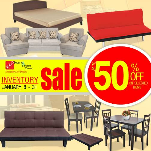 Sogo home office center inventory sale january 8 31 2016 manila on sale Robinson s home furniture philippines