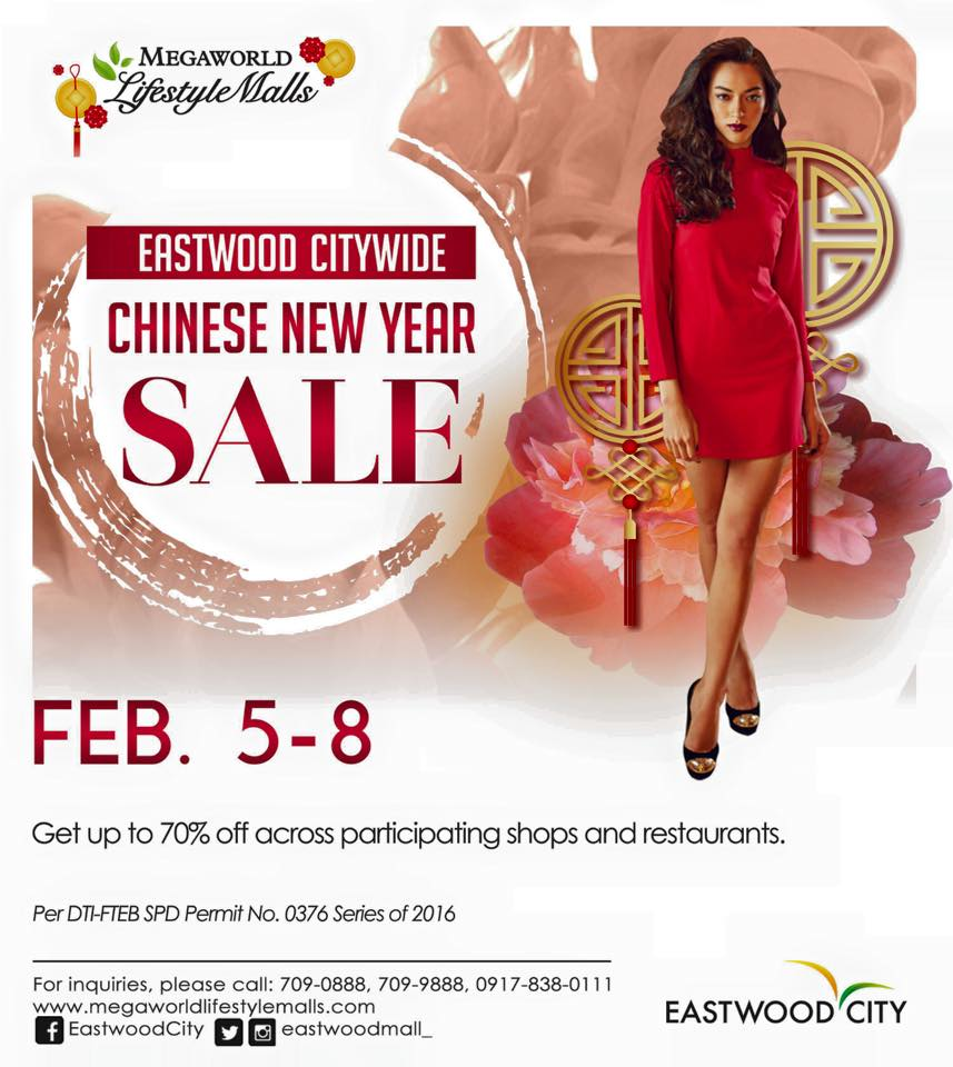 Eastwood City Chinese New Year Sale February 2016