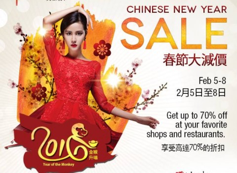 Lucky Chinatown Mall Chinese New Year Sale February 2016