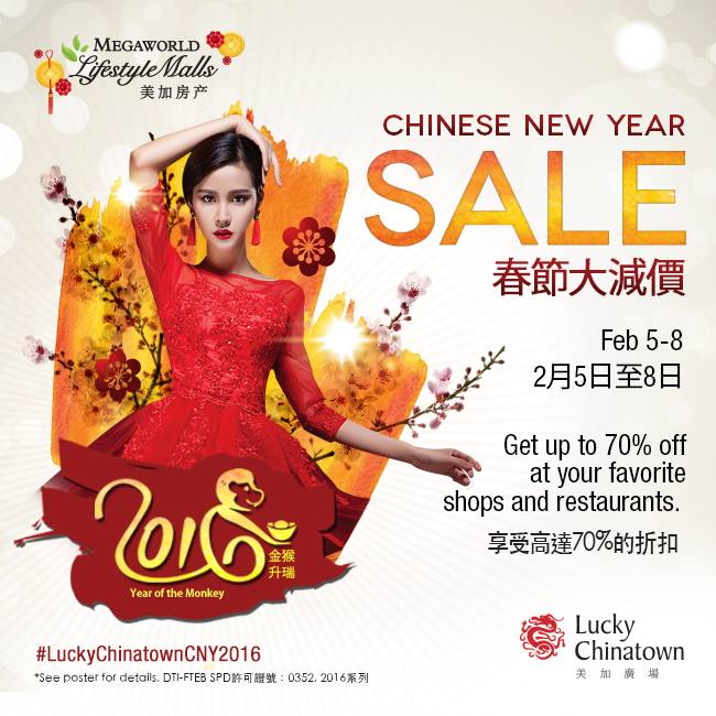 8c8301c80b42 Lucky Chinatown Mall Chinese New Year Sale February 2016