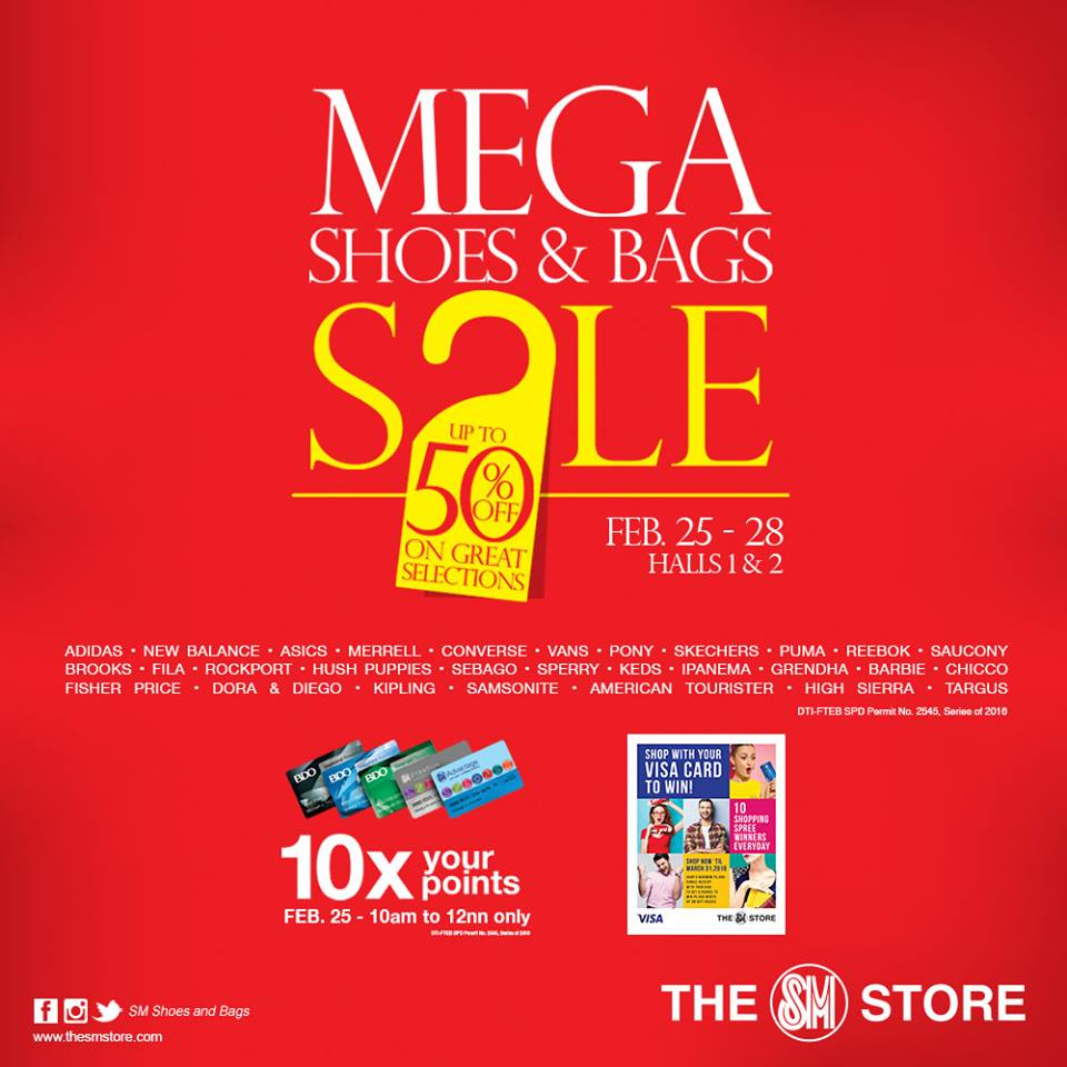 0b389b6a7cb SM Mega Shoes and Bags Sale  February 25-28