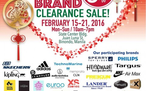 The Big Brand Clearance Sale @ State Center Building February 2016