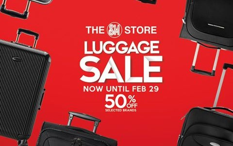 The SM Store Luggage Sale February 2016