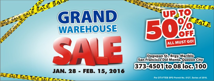 Western Appliances Grand Warehouse Sale February 2016