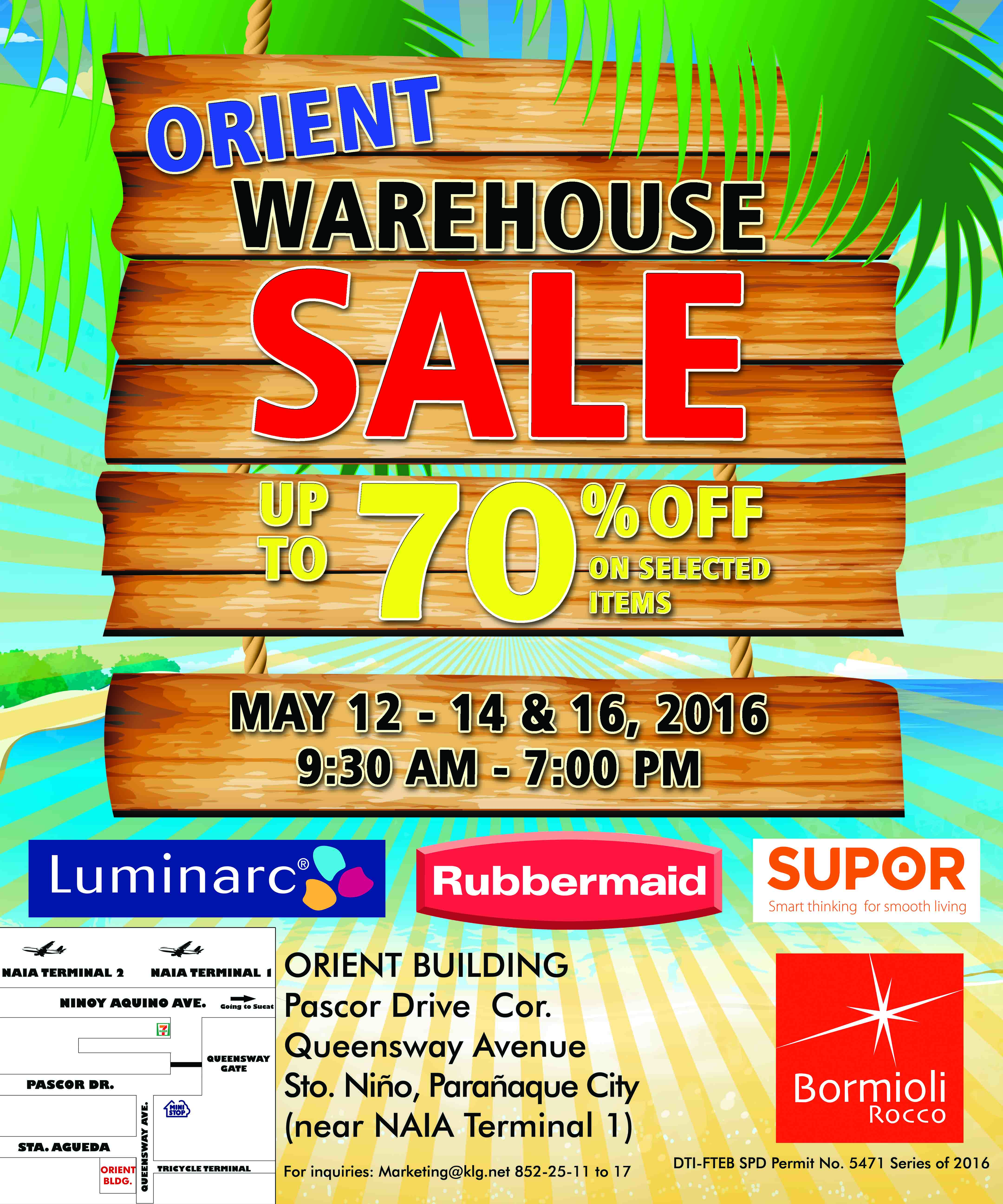 ORIENT SALE MAY 12-14 & 16